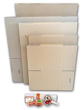 Cajas de Cartón para Mudanzas (Pack GRANDE de 26 Cajas + Accesorios) - Cajas