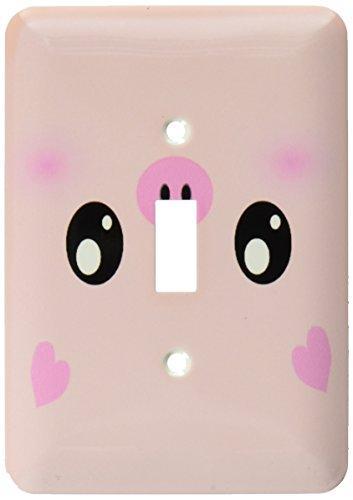 3d Rose 3dRose LLC lsp_113123_1 Kawaii Pig Face Cute Pink...