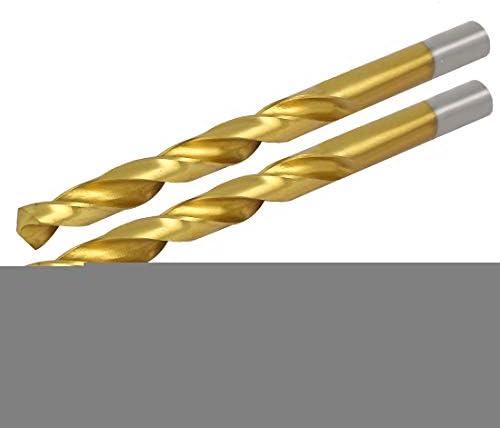 Aexit 2 stücke 9,9mm Bohrdurchmesser Titan Überzogene Doppelflöten Spiralbohrer (5f5d67464b7a378e22c15c5a5bf03b3b)