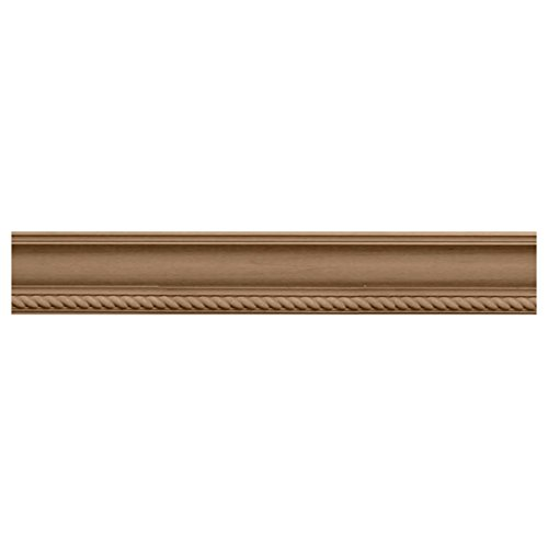 Ekena Millwork MLD02X02X03ADCH 2 1/4-Inch H x 2 3/8-Inch P x 3 1/4-Inch F x 96-Inch L Andrea Rope Carved Wood Crown Moulding, - Crown Cherry Moulding