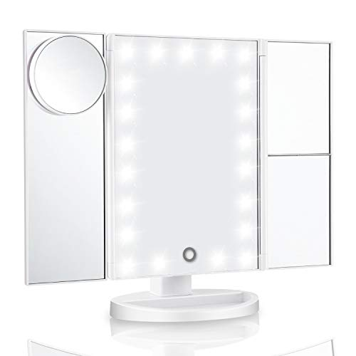 Vanity Mirror With Lights & Latest 21 Led Lighted Makeup Mirror - New 11x7.1x1