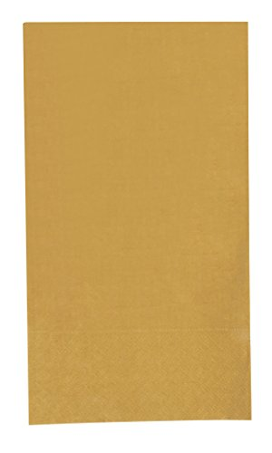 Blue Panda 120-Pack Gold Paper Dinner Napkins 2-Ply Absorbent for Everyday Kitchen, Dining, Events, Parties, Unfolded 15.5 x 13 Inches, Folded 7.5 x 4.25 Inches ()