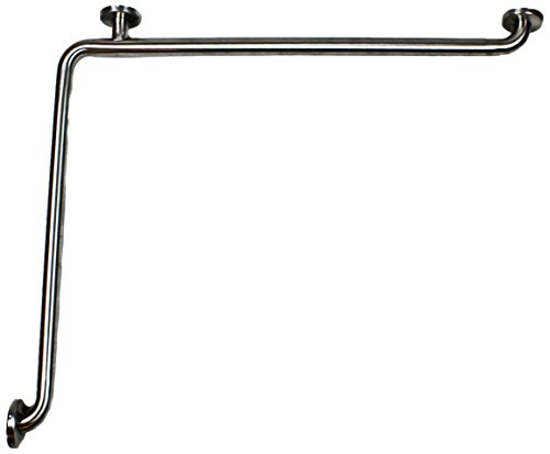 CSI Bathware BAR-HA-1833-TW-125-SA-P5 ADA 18-Inch x 33-Inch Grab Bar L-Shaped Horizontal Angle Bathroom Safety Bar Concealed Flanges, Stainless Steel Satin Finish, 5-Pack (Satin Horizontal)