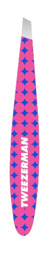 Tweezerman Pop of Op Mini Slant Tweezer, Pink, 0.5 Ounce