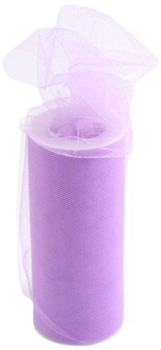 (Kel-Toy Tulle Ribbon, 6-Inch by 25-Yard, Lavender)