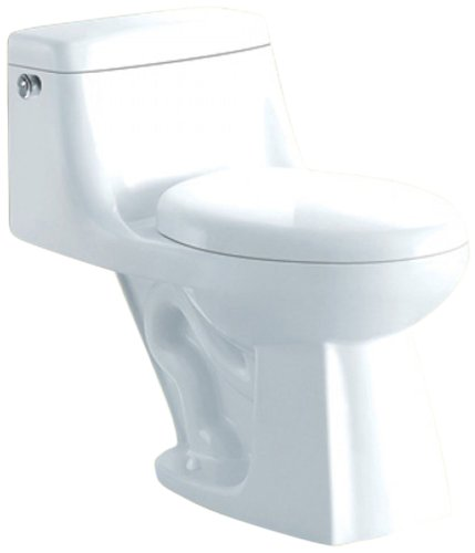 Yosemite YPDL105H-WH Toilet, White, 1-Piece