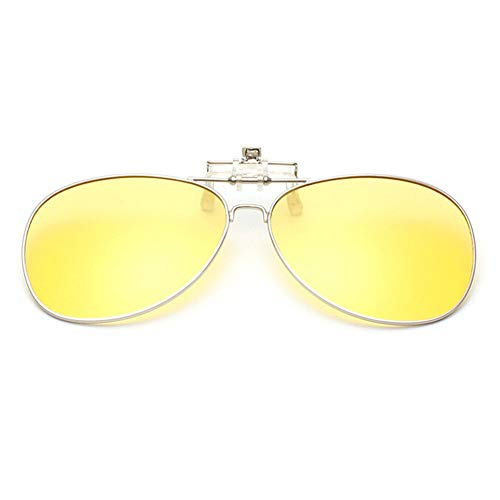 Aviator Hzjundasi Clip Flip Des Jaune Mixte Conduite de soleil Protection UV400 Lentille up Polarisation lunettes pour on l'extérieur lunettes Pêche 88rqS01n