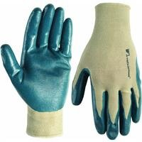 Wells Lamont 535S Womens Gardening Gloves, Nitrile Coated Knit, Small, Colors May (Coated Palm Wells)
