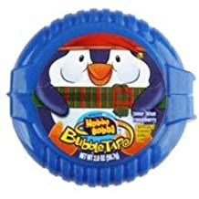 LIMITED EDITION Hubba Bubba Bubble Tape Sour Blue Raspberry Chewing Gum 2 Oz. (Pack of 1)