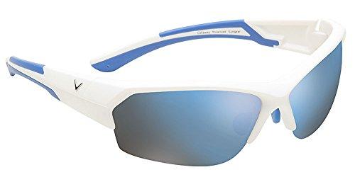 Callaway  Sungear Raptor Golf Sunglasses - Matte White Plastic Frame, Brown Lens w/Blue - Callaway Sunglasses