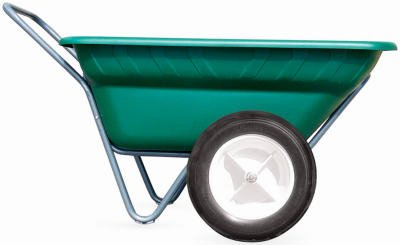 High Country Plastic Cart - High Country Plastics DC-7FG-WF Dura Cart/Dolly with Worry Free Tires, 7 cu. ft., Forest Green
