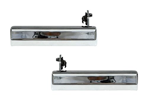 Front Exterior Chrome Door Handle Pair for GMC Pontiac Buick Chevy Pickup Truck