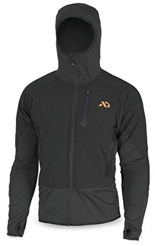 First Lite Men's Merino Wool Insulated Sawtooth Hybrid Jacket, Black, X-Large