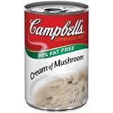 Campbells Reduced Fat Condensed Cream of Mushroom Soup - 10.75 oz. can, 24 per case