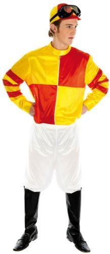 Fun Shack Adult Red & Yellow Jockey Costume - X LARGE by Fun (Jockey Costumes For Adults)