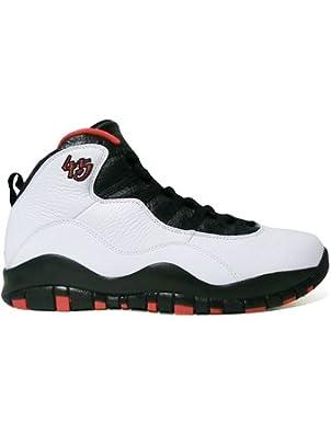 【クリックで詳細表示】(ジョーダン) Jordan シカゴ 45 ダブルニッケル シューズ Air Jordan 10 Retro Double Nickel Wht/T.Red/Blk バスケットボール ストリート [並行輸入品] 29