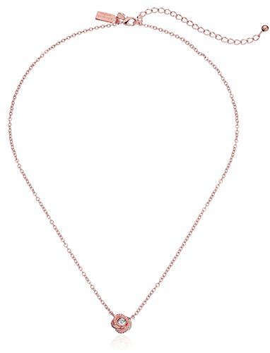 Kate Spade New York ''Infinity and Beyond Clear/Rose Gold Knot Mini Pendant Necklace, 17'' + 3'' Extender by Kate Spade New York (Image #1)