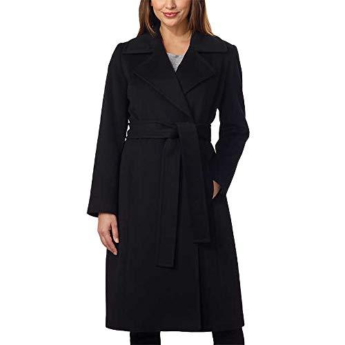 George Simonton Couture Women's Cashmere Coat, Black, Size 4