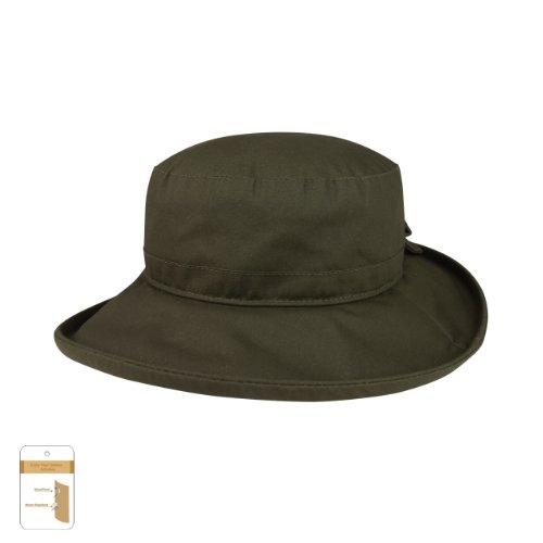 Juniper Women's Waxed Cotton Canvas Wide Brim Bucket Hat, One Size, -