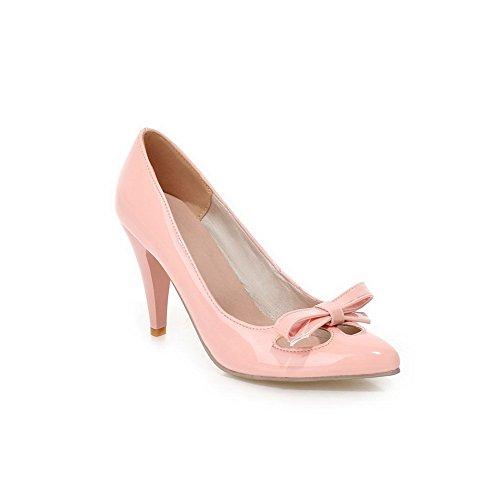 Balamasa Kvinnor Slip-on Kick-häl Fasta Mjuk Material Pumpar-shoes Rosa
