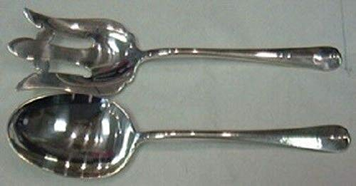 Rattail Antique By Reed Barton Dominick Haff Sterling Salad Serving Set 2pc