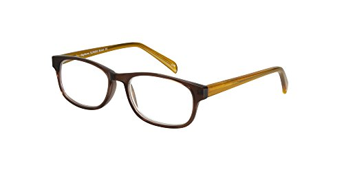 SightLine 6003 Multifocus Computer Reading Glasses with Anti-Glare Coated Lenses (3.00, Brown)