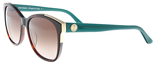 (Juicy Couture JU 593/S 0086 Dark Havana Square Sunglasses for)