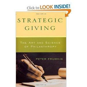 Download Strategic Giving byFrumkin pdf