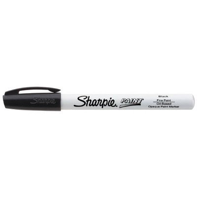 Sharpie - Fine Point Paint Marker [Set of 3], Black, Permanent, Quick drying ()