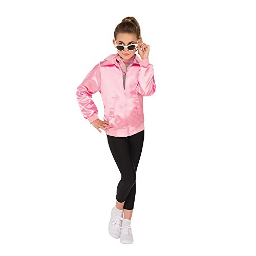 Pink Ladies Kids Costumes (Rubie's Costume Girls Grease Jacket Costume, Small, Pink)