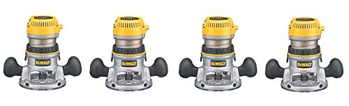 DEWALT DW618 2-1/4 HP Electronic Variable-Speed Fixed-Base Router (4-Pack)