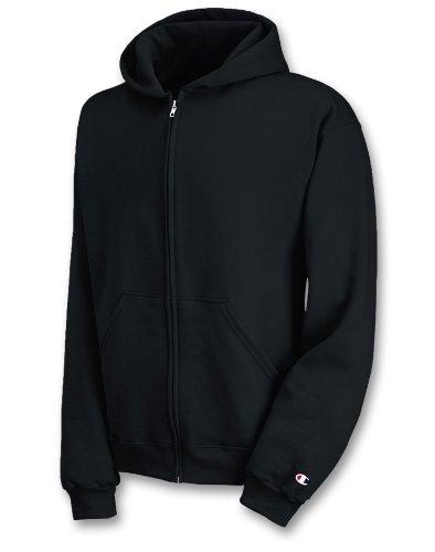 Champion CW25 Youth 50/50 Full-Zip Hoodie - Black - L