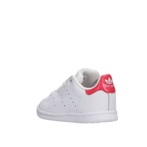 adidas Unisex Baby Stan Smith Sneaker Weiß (Footwear White/Real Pink 0) ...