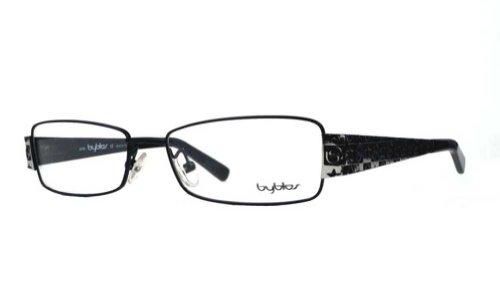 Glasses Byblos - Byblos Women's BY007 Black (04) Frame Clear Lens Full Rim Eyeglasses 52mm
