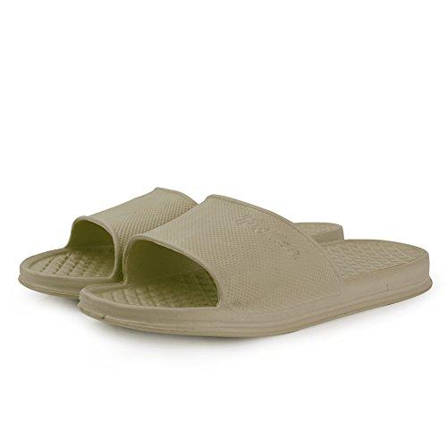 Home Shower Shoes Indoor Ultralight Slipper EQUICK Anti for House Men Khaki Slip Sandal Bath and Women q88Ppw7z