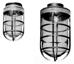 VU-100 APPLETON ENCLOSED GASKETED FIXTURE ADAPTER/ SOCKET, GLOBE & GUARD, INCANDESCENT ALUMINUM VU100 CLEAR GLASS