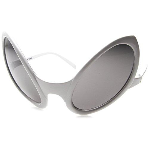 zeroUV - Alien Extraterrestrial UFO Sci-Fi X-Files Costume Party Novelty Sunglasses - Alien Glasses White