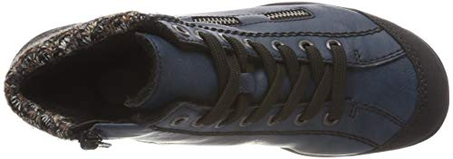 Wine Navy Bleu Anthrazit Sneakers L6543 Terra Hautes Femme Rieker 37 Schwarz 00 EU Rot PXYxq