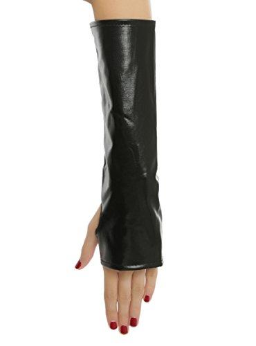 Lame Adult Gloves (Black Lame Gloves)