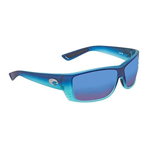 Costa Del Mar Cat Cay Sunglasses Matte Caribbean Fade/Blue Mirror 580Glass ()
