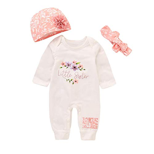 Sameno Baby Layette Set,Newborn Baby Girl Long Sleeve Denim Romper Hat Bodysuit Outfits Clothes Set