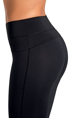Gwinner Women's High Waist Yoga Leggings Tummy Control Anti-Cellulite/CLIMAline+, Algae, Ginkago Biloba, Gotukola/X-Large