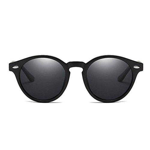 polarizadas protección forma Ronda de Gafas retro unisex sol lentes de Marco de 2 Mujeres de UV400 PC gafas Coolsir Hombres conducción en las qnv8Snt