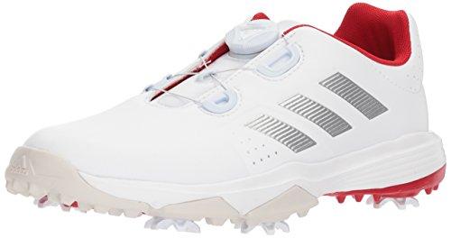 ipower Boa Golf Shoe, FTWR White/Silver met./Scarlet, 5.5 Medium US Little Kid ()