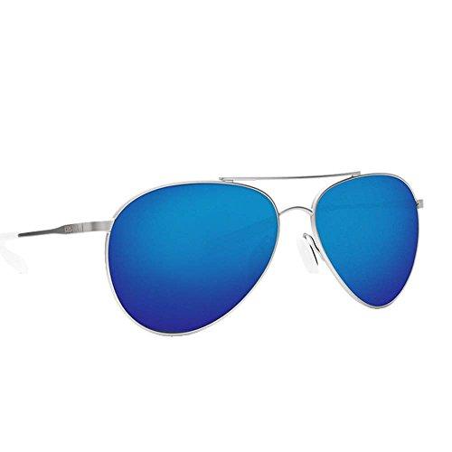 Costa Del Mar Costa Del Mar PIP183OBMP Piper Blue Mirror 580P Velvet Silver Frame Piper, Velvet Silver Frame, Blue Mirror 580P (Costa Aviators)