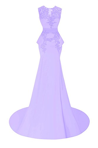 Bess Formal Bridal Prom Women's Lilac Dresses Beaded Mermaid Appliques PrPUqaw