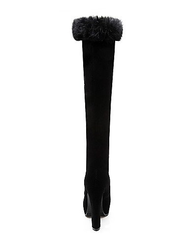 Vellón Negro Tacón Punta Cn Plataforma Moda A Black Mujer us8 Robusto De Uk6 Eu39 Vestido Redonda 5 Black Xzz Botas Cn43 La Uk8 5 Zapatos us10 Cn39 Casual Eu42 wAq6YtcZ