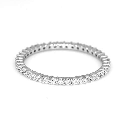 (100% Pure Diamond Ring Eternity Band Diamond Ring 1/2 ct IGI Certified Lab Grown Diamond Engagement Rings For Women SI1-SI2-GH Quality 14K Real Diamond Band Rings Diamond Jewelry Gifts For Women)