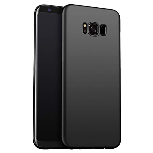 Galaxy S8 Case, [Slim Thin] Soft Skin Flexible TPU Premium Hybrid Shock Absorbing & Scratch Resistant Bumper Silicone Protective Case Cover for Galaxy S8(Matte Black)