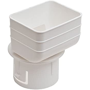 Aquabarrel Universal Downspout To Drain Pipe Tile Adapter